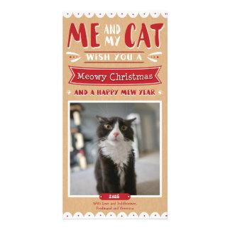 Carte Moi et mon Noël 4x8 Photocard de chat