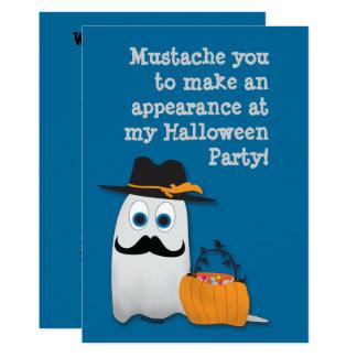 Carte Moustache fraîche de Halloween d'amusement vous