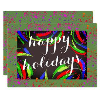 Carte Multicolore et amusement bonnes fêtes -