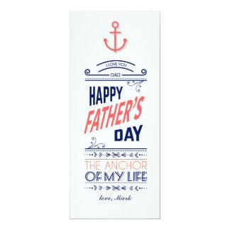 Carte nautique de fête des pères carton d'invitation  10,16 cm x 23,49 cm