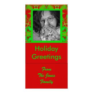 Carte Noël vert rouge