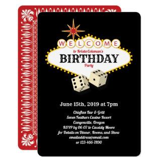 Carte Noir de fête d'anniversaire de chapiteau de Las