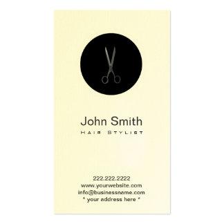Carte noire moderne de profil de coiffeur de carte de visite standard
