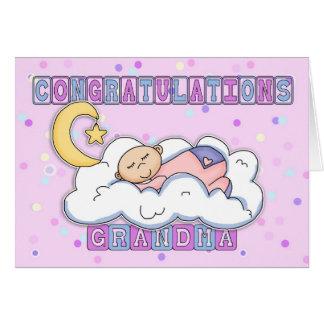 Carte Nouvelles félicitations de bébé de grand-maman