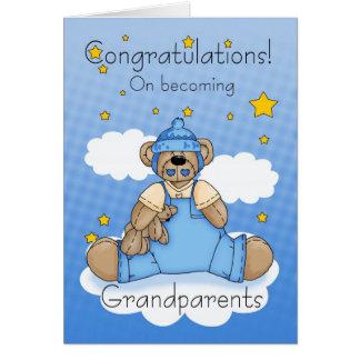 Carte Nouvelles félicitations de bébé de grands-parents
