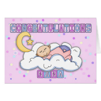 Carte Nouvelles félicitations de bébé de Nana