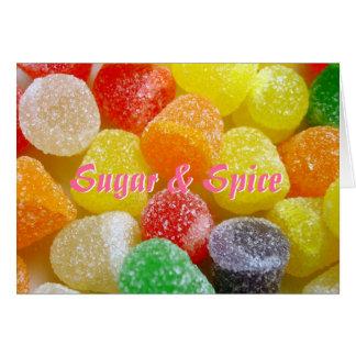 Carte Nouvelles félicitations de bébé de sucre et