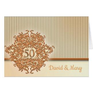 Carte Or, cinquantième anniversaire de mariage
