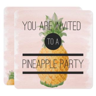 Carte Partie à la mode et d'amusement d'ananas