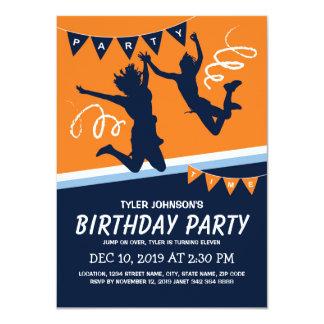 Carte Partie d'anniversaire de enfant de garçons de parc