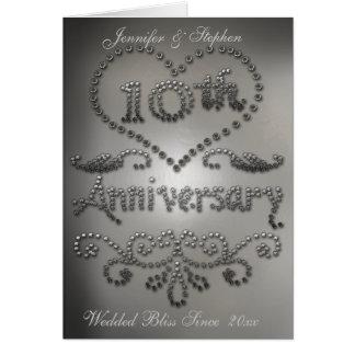 Carte perforée d'anniversaire de mariage de regard