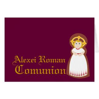 """Carte Personnaliser de """"Comunion"""" -"""