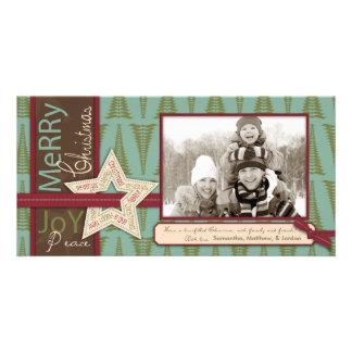 Carte photo d étoile de Noël Cartes De Vœux Avec Photo