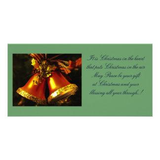 Carte photo de cloches de Noël Cartes De Vœux Avec Photo