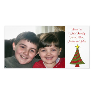 Carte photo de coutume d'arbre de Noël d'amusement Photocarte
