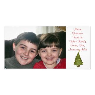 Carte photo de coutume d'arbre de Noël de Lil Cartes Avec Photo