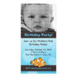 Carte photo de fête d'anniversaire de poissons de  cartes de vœux avec photo