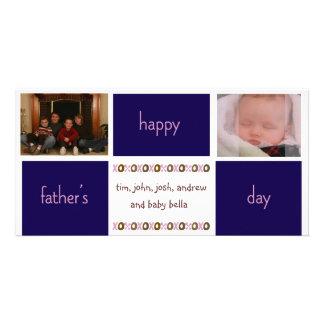 Carte photo de fête des pères photocartes personnalisées