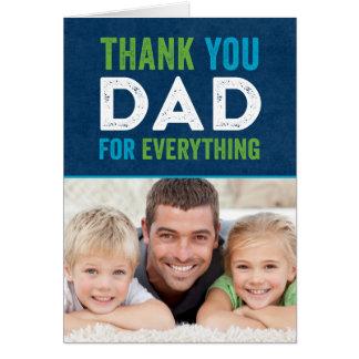 Carte photo de fête des pères de papa de Merci