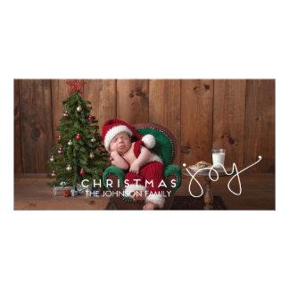 Carte photo de joie de Noël - main marquée avec Photocarte