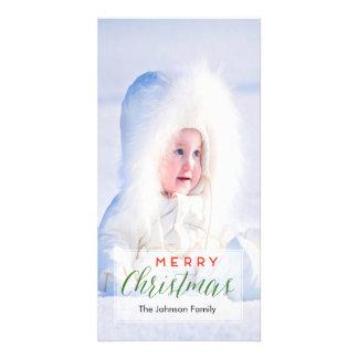 Carte photo de Joyeux Noël Modèle Pour Photocarte