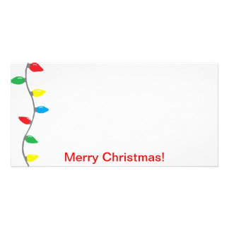 Carte photo de lumières de Noël Modèle Pour Photocarte
