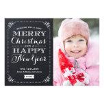 Carte photo de vacances de tableau de Noël très Invitation Personnalisée