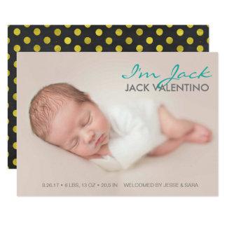 Carte photo doux d'annonces de naissance