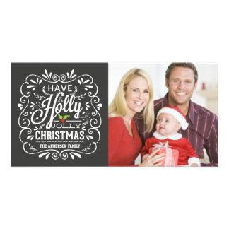 Carte photo gai de tableau de fantaisie de Noël de Cartes Avec Photo