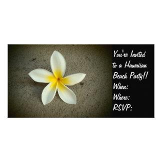 Carte photo hawaïen d'invitation de partie de fleu photocartes personnalisées