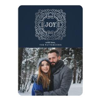 Carte photo moderne de vacances de la joie   carton d'invitation  12,7 cm x 17,78 cm