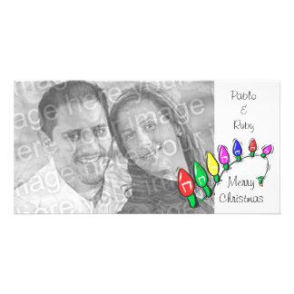 Carte photo personnalisable de lumières de Joyeux  Photocartes Personnalisées