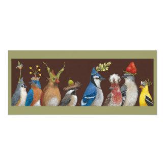 Carte plate de la partie #2 du geai carton d'invitation  10,16 cm x 23,49 cm