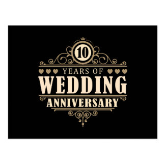 Carte Postale 10ème Anniversaire de mariage