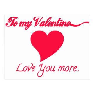 Carte Postale À mon Valentine