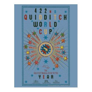 Carte Postale Affiche de bleu de coupe du monde de QUIDDITCH™