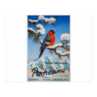 Carte Postale Air suisse Suisse de vacances vintages de