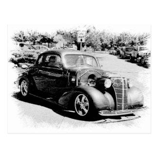 Carte Postale Ancien noir et blanc - automobile vintage