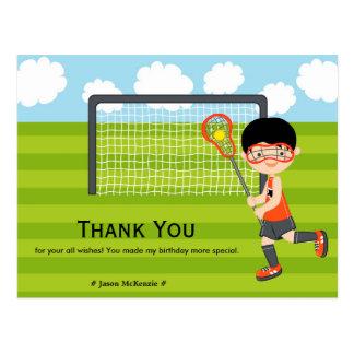 Carte Postale Anniversaire de lacrosse de Merci