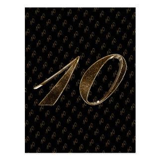 Carte Postale Anniversaire de mariage d'or noir du numéro 10