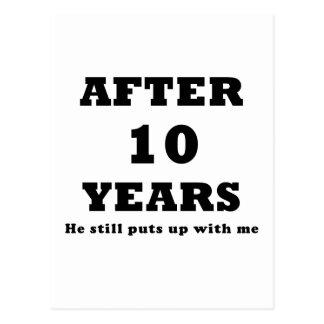Carte Postale Après 10 ans il m'acceptait toujours