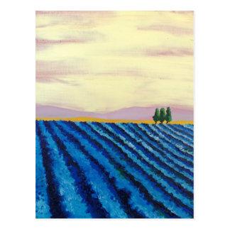 Carte Postale Art de gisement de lavande (paysage français)