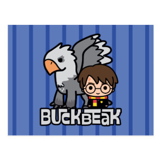 Carte Postale Bande dessinée Harry Potter et Buckbeak