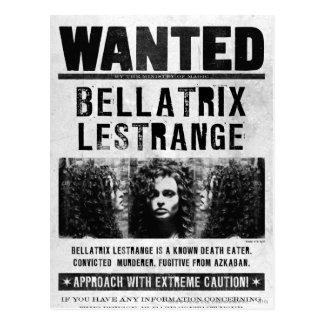 Carte Postale Bellatrix Lestrange a voulu l'affiche
