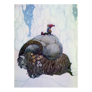 Carte Postale Chèvre de Noël d'équitation de Julbocken