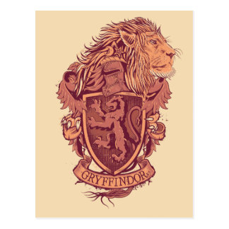 Carte Postale Crête de lion de Harry Potter | Gryffindor