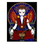 """Carte postale d'ange du feu de déesse de """"Solara"""""""
