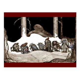 Carte Postale Dans la nuit de Noël Tomte-Nisse