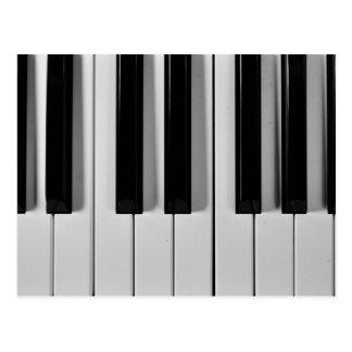 Carte postale de coutume de clavier de piano