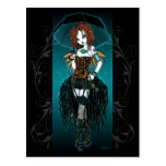 """Carte postale de fée de Cyber de Steampunk de """"Sam"""